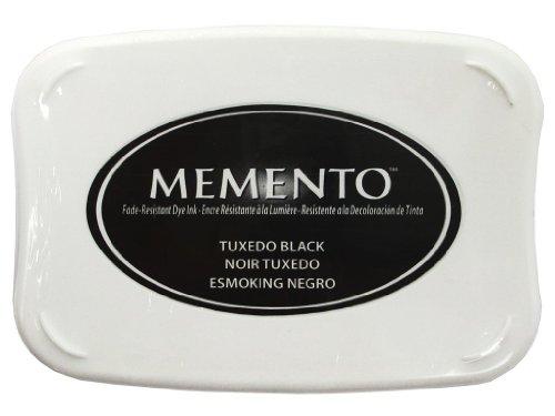 Tsukineko Memento Dye Ink Pad - Tuxedo Test