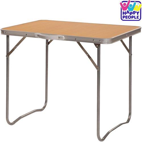 Happy People Campingtisch mit MDF Tischplatte, klappbar, 50x70 cm // Klapptisch Camping Wohnwagen Tisch klappbar Balkontisch Gartentisch