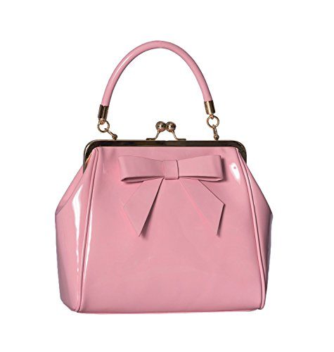 Banned Apparel American Vintage 50s Rockabilly glänzend handtasche - Rosa