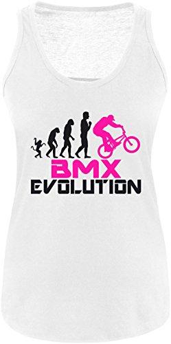 EZYshirt® BMX Evolution Damen Tanktop Weiss/Schwarz/Pink