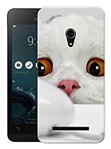 """Humor Gang Cute Kitty Printed Designer Mobile Back Cover For """"Asus Zenfone 5"""" (3D, Matte Finish, Premium Quality, Protective Snap On Slim Hard Phone Case, Multi Color)"""