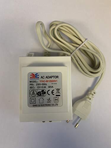 3Y3 AC Adaptor Blocktrafo Seilsystem 60VA 60W Halogen 12V 5.0A Trafo weiß