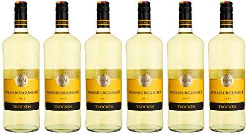 HXM Weissburgunder Trocken Qualitätswein Rheinhessen 2017/2018 Weißwein (6 x 1 l)