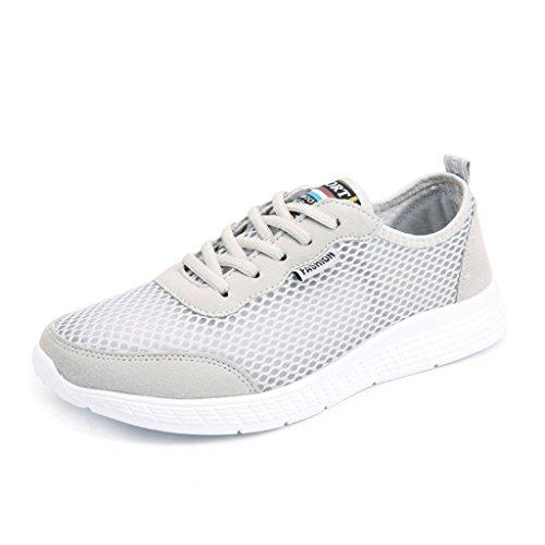 ZanYeing Scarpe sportive unisex Sneakers da donna Scarpe casual estive traspirante maglia Scarpe da corsa Grigio
