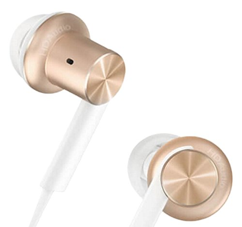 Headphones Xiaomi QTER02JY My Hybrid intraauditivos shaped metal cylindrical, in gold