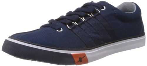 Sparx Men's Navy Blue Canvas Sneakers - 10 UK