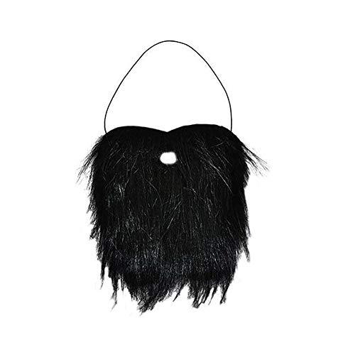 Der Mensch falscher Bart-Schwarz-Schnurrbart Bushy Lustige Bart für Halloween-Partei-Kostüm-Bart (Kostüme Halloween Bart)