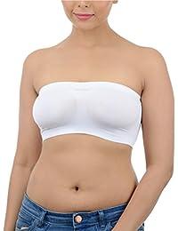 Ishita Fashions Women's Tube Bra Seamless Strapless Bandeau Top Tube Bra (White)