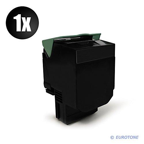Preisvergleich Produktbild Eurotone Kompatibler Toner SCHWARZ XXL für Lexmark CX310 CX410 CX510 Drucker - ersetzt 80C20K0 / 802K
