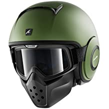 Shark - Casco Jet Drak, color caqui