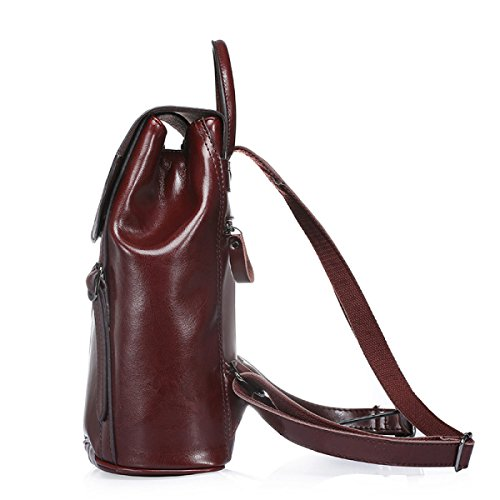 FZHLY Estate Nuovi Europei E Americani Vento Olio Cera Leather Shoulder Bag,Brown Brown