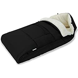 Chancelière d'hiver Porte-bébé Couverture Lavable Confortable Rembourrée Noire Bébé Poussette Siège-auto Landau