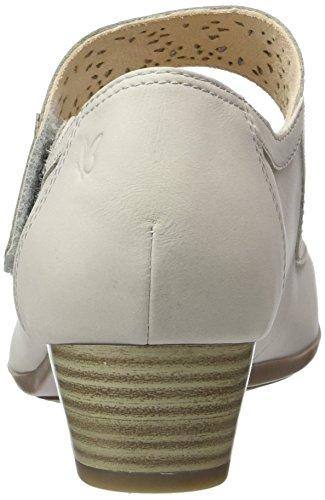 Caprice 24300, Sandales Bout Ouvert Femme Gris (Lt Grey Nubuc)