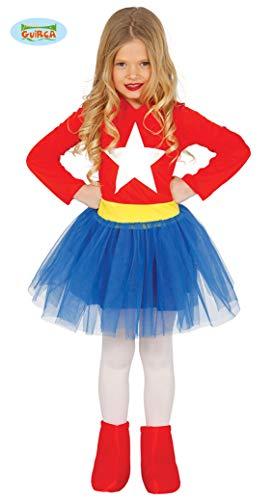 Costume vestito Capitan America supereroe carnevale bambina taglia 7-9 anni