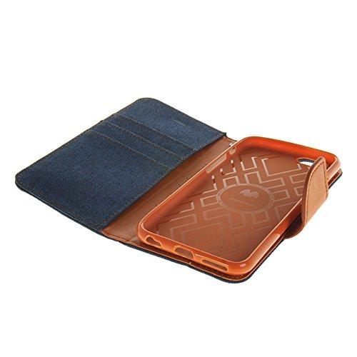 MOONCASE Coque en Cuir Portefeuille Housse de Protection Étui à rabat Case pour Apple iPhone 6 ( 4.7 inch ) saphir saphir
