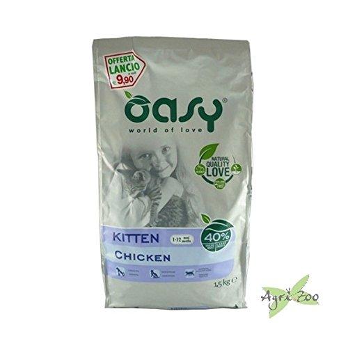 OASY Alimento secco per gattini al pollo 1,5kg - Mangimi secchi per gatti
