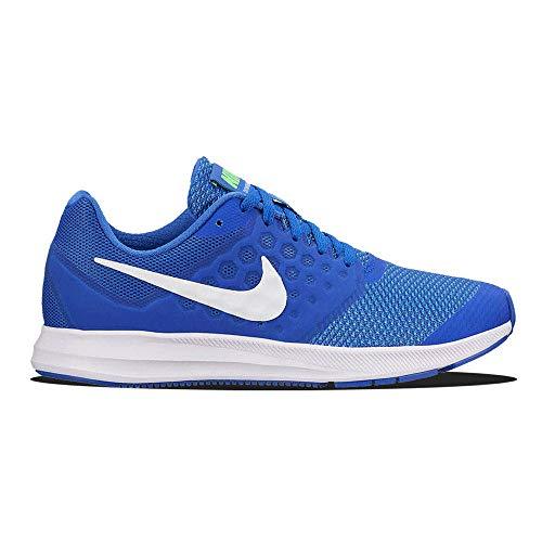 Nike Damen Zapatillas Downshifter 7(GS) Mega Blue/White Green Strike R Fitness Scarpe