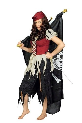 mpen-Piratin Gr. 36-38 -Piraten-Damen- ()