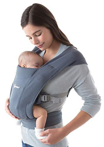 Ergobaby Babytrage für Neugeborene ab Geburt Extra Weich, Embrace Bauchtrage Baby-Tragetasche Ergonomisch (Oxford Blue)