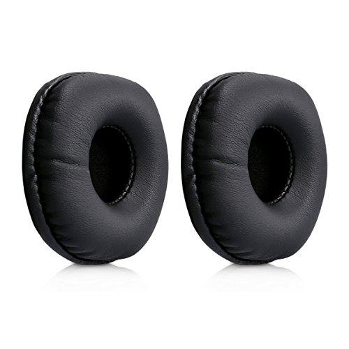 Kwmobile 2x auricolari di ricambio per marshall major - cuscinetti sostitutivi cuffie over ear in similpelle per headphones major - nero