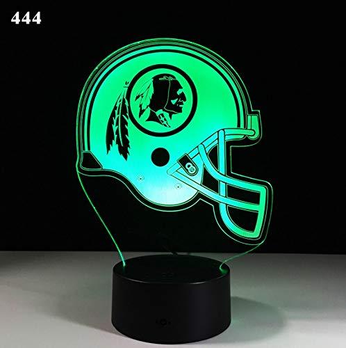 Neuer Rugby 3D beleuchtet bunte entfernte LED-Lichter der Note 3d - 66 Rugby