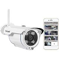 Sricam Caméra IP, Caméra de Surveillance HD Wifi Caméra de Sécurité Extérieure et Intérieure 720P, Etanche IP66/ Vision Nocturne/ Détection de Mouvement pour iOS Android Windows