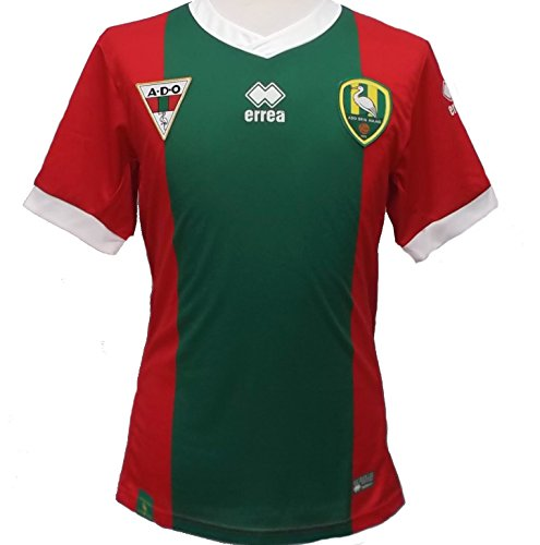 Ado Den Haag UNSPONSORED Trikot Away 2015/16 Gr. Erwachsene XXL- Slim fit, Green and Red (Away Erwachsene Trikot)