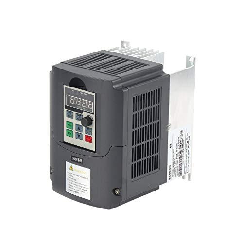 DERNON 220V 1.5KW Adjustable Speed Drive Single Phase Input Frequency Converter Black