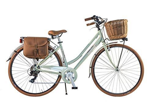 Canellini Via Veneto by Fahrrad Rad Citybike CTB Frau Vintage Retro Dolce Vita Aluminium Green hellgrun (46)
