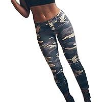 yingshu Mujeres Deportes Leggings de Camuflaje Estampado Moda Levantamiento de Cadera Pantalones Athletic Slim Fit Skinny Jeans