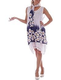 Sommerkleid 3 tlg. ( Tunika, Unterkleid, Tuch )