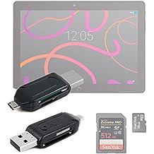 DURAGADGET ¡2 en 1! Lector De Tarjetas Para BQ Aquaris M10 | SD + MicroSD / T-Flash - OTG - USB 2.0 A MicroUSB