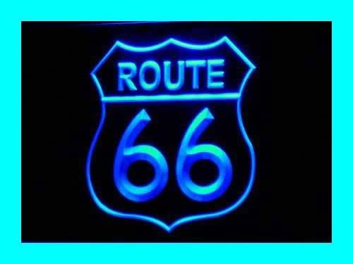 Enseigne Lumineuse i371-b Historic Route 66 Mother Road Neon Light Sign NR