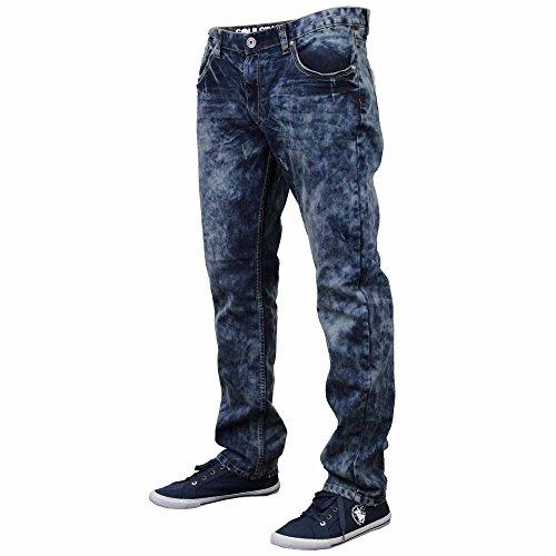 Herren Jeans Soul Star Denim Hose Gerader Schnitt Modische Freizeit Winter Hose Neu Blau - JOHNSON
