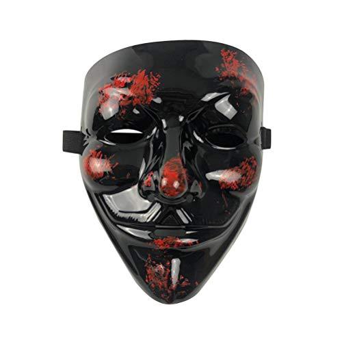 Kostüm Guy Monster - Wakness Halloween Nachtleuchtende Maske,Halloween-Kostüm, Cosplay, BB Evil Demon Monster Kabuki Samurai Hannya Oni Halbe Abdeckung Airsoft und Prop Maske