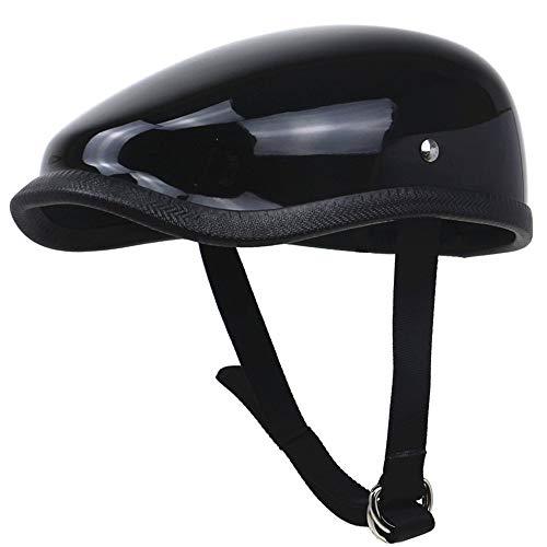 You will think of me Sie werden an mich denken Helm-Stil-Barette-Helm Leichter Motorrad-Helm Fiberglas-Schale Ultra-Leichtgewicht-Design-Freizeit-Moto, 1, S -
