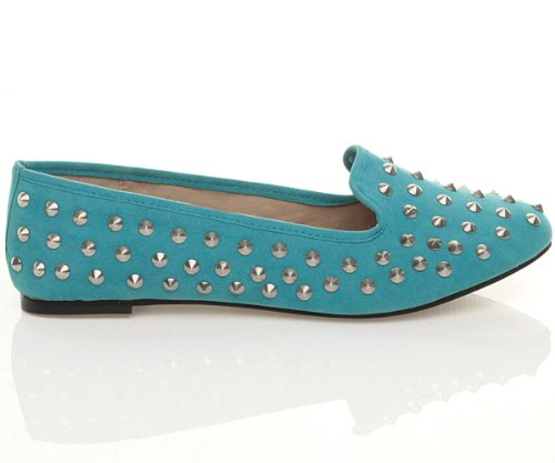 Ajvani, Pantofole donna Turchese (Turquoise Blue)