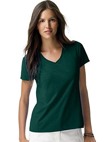 Hanes Women's Nano-T® V-Neck T-Shirt 3XL Green Womens Nano