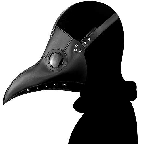 X&MX Halloween Maske Steampunk Pest Schnabel Lange Mund Vogel Maske Halloween Requisiten,K