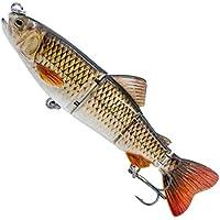 JESSIEKERVIN YY3 Señuelos de Pesca con articulaciones múltiples Cebos Duros Lifelike 6 Bass Perch Lucio de Pesca con truchas Cebos de Pesca (Size : 04)