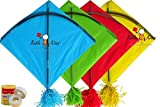 Babla Kites Indian Fighter Rocket Kite (45.5x58.5cm) - Set of 40