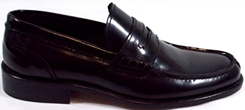 Brawn's Moccasin Chaussure Hommes College Fond Chamois Noir