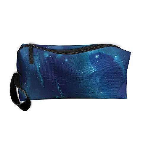 Sky Fish Fashion Makeup Bag Organizer Case Travel Cosmetic Bags Pencil Case -