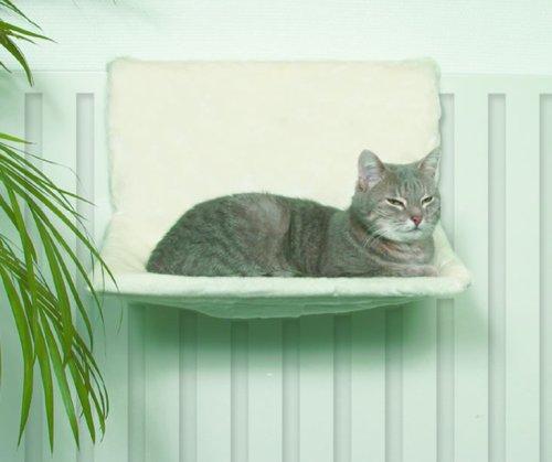 Trixie 4321 Liegemulde de Luxe, Plüsch, 45 × 24 × 31 cm, wollweiß
