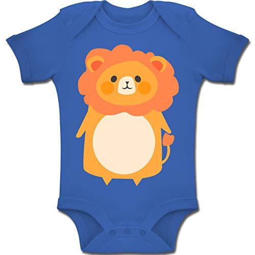 und Fasching Baby - Fasching Kostüm Löwe - 12-18 Monate - Royalblau - BZ10 - Baby Body Kurzarm Jungen Mädchen ()