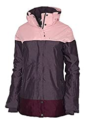 Columbia Women's Snowshoe Mountain Omni Heat Waterproof Hooded Ski Jacket (XS, Dusty Purple)