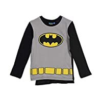 Batman Official Licensed Boys Long Sleeve Super Hero Pyjamas Set with Cape and MASK 100% Cotton - Black 3