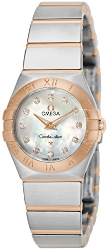 OMEGA WOMEN'S 24MM TWO TONE STEEL BRACELET & CASE QUARTZ WATCH 12320246055001