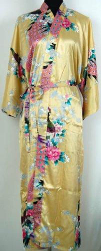 Pfau Kimono Robe Schlafanzug Nachthemd Bademantel Damen