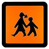 Lohofol Magnetschild Schulbus | Schulbusschild Warntafel Schulbustafel Magnettafel Schild magnetisch (40 x 40 cm)